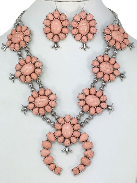 SQUASH BLOSSOM CHUNKY NECKLACE - orangeshine.com