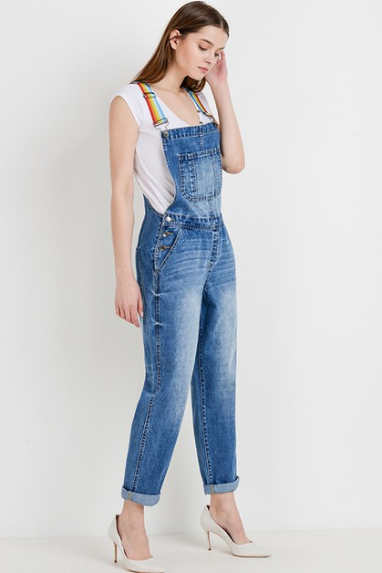 Multi Color Strap Overall - orangeshine.com