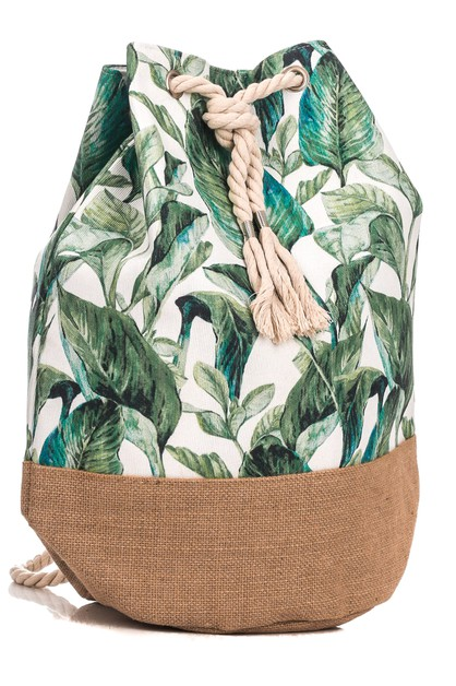 Tropical Forest Drawstring Backpack	 - orangeshine.com