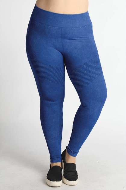 Plus Size Vintage Moto Jeggings - orangeshine.com