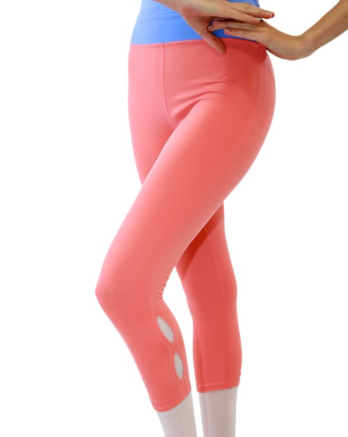 SINY Basic High-waist Cutout Legging - orangeshine.com