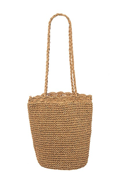 WOVEN DETAILED BUCKET BAG  - orangeshine.com