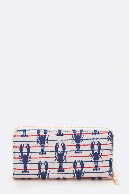 Lobster Nautical Iconic Wallet - orangeshine.com