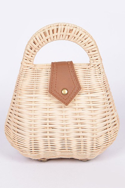 Bamboo Iconic Structure Handle Bag - orangeshine.com