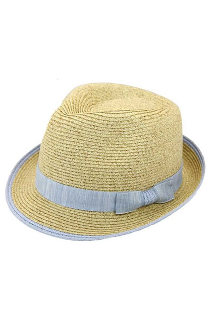 CHIC FASHION STRAW WOVEN FEDORA HAT  - orangeshine.com