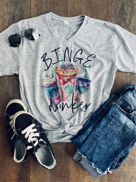Binge Drinker Coffee Tee - orangeshine.com