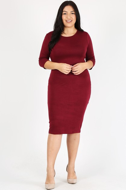 Plus Size Body-con  Dresses - orangeshine.com