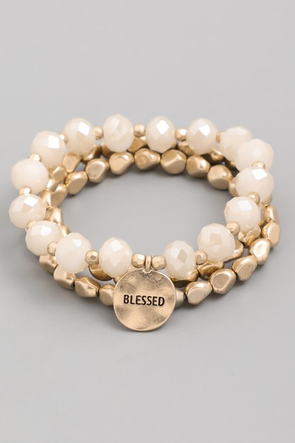 Blessed Braced Bracelet Set - orangeshine.com
