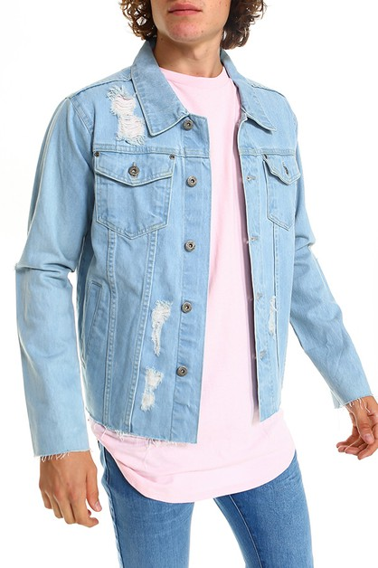 Mens Cropped Denim Jacket  - orangeshine.com