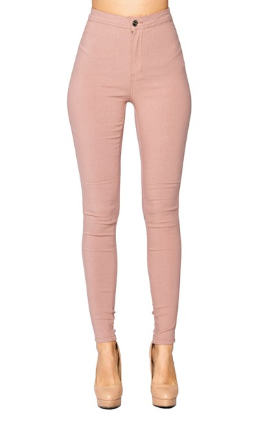 High Waist Super Stretch Jean Pants - orangeshine.com