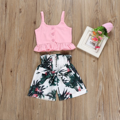 Crop top shorts set - orangeshine.com