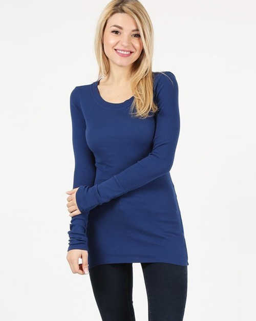 Basic Tunic Tee - orangeshine.com