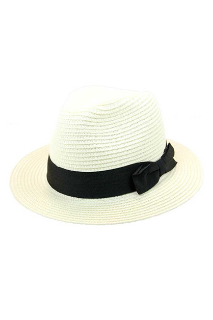 FASHION NATURAL WOVEN FEDORA - orangeshine.com