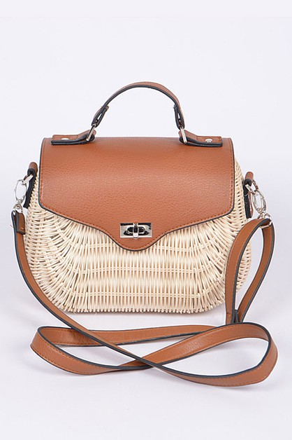 Bamboo Weaved Twist Lock Iconic Swin - orangeshine.com