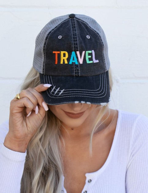 TRAVEL Embroidered Hat - orangeshine.com
