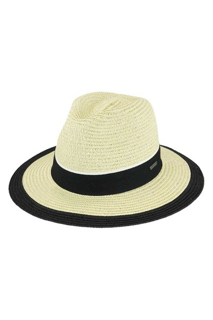 CHIC TRENDY STRAW WOVEN FEDORA - orangeshine.com