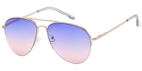Semi Rimless Aviator Sunglasses - orangeshine.com