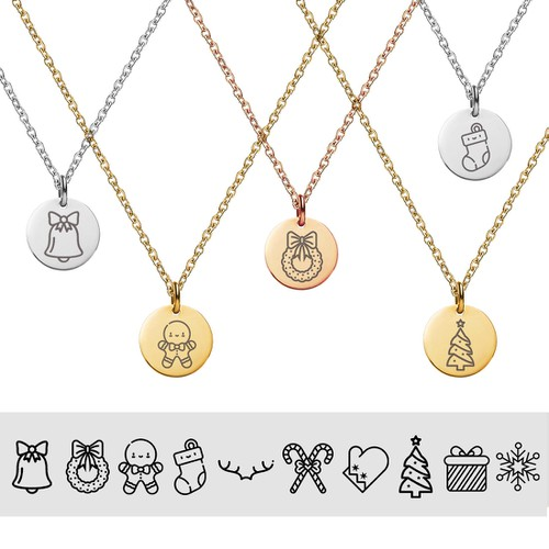 Rose Gold Christmas Necklaces - orangeshine.com
