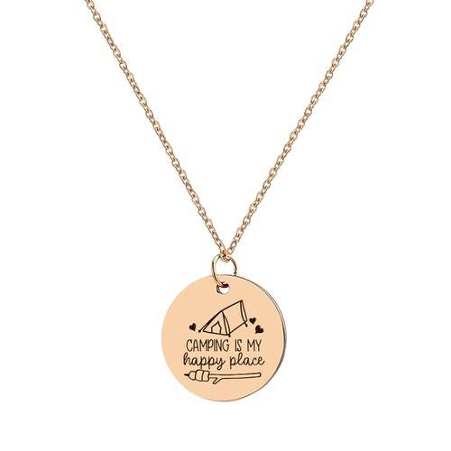 Camping is my Happy Place Necklace - orangeshine.com