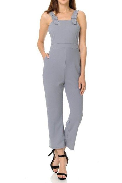 Overall style strap jumpsuit  - orangeshine.com