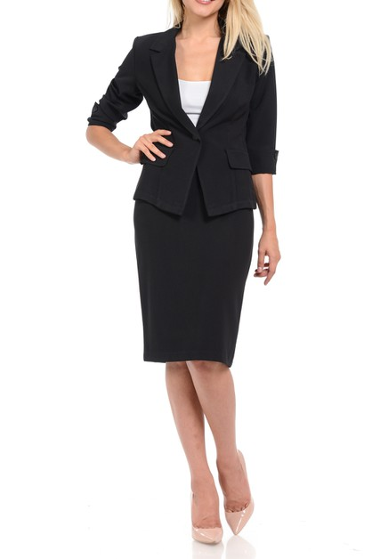 Work Office Blazer and Skirt Suit Se - orangeshine.com