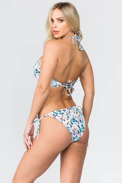 Halter TIe Back with String Bikini - orangeshine.com