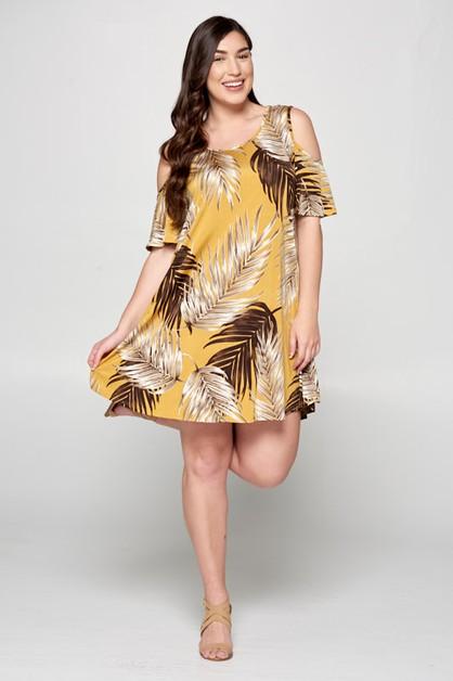 443d0549747 Cold Shoulder Tunic Dress - orangeshine.com