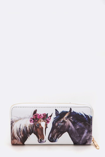 Horse Lover Iconic Fashion Wallet - orangeshine.com
