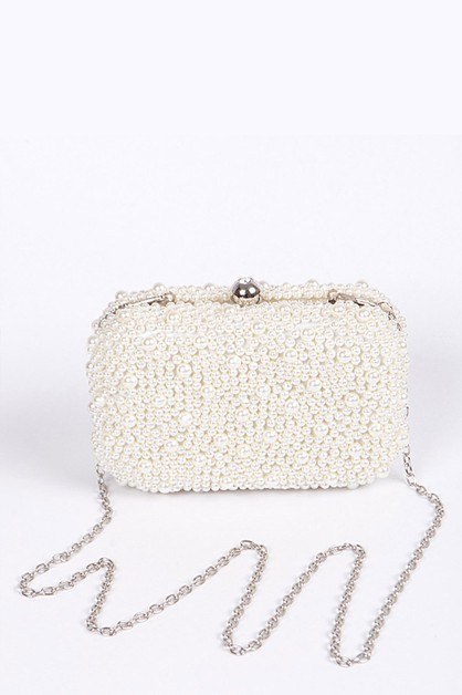 Zillion Pearls Iconic Box Clutch - orangeshine.com