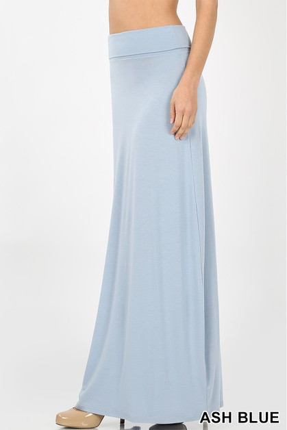 PREMIUM RAYON RELAXED FIT MAXI SKIRT - orangeshine.com
