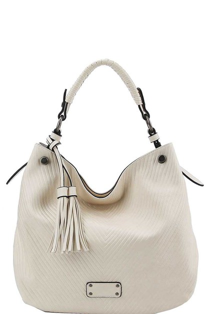 FASHION DOUBLE TASSEL HOBO  - orangeshine.com