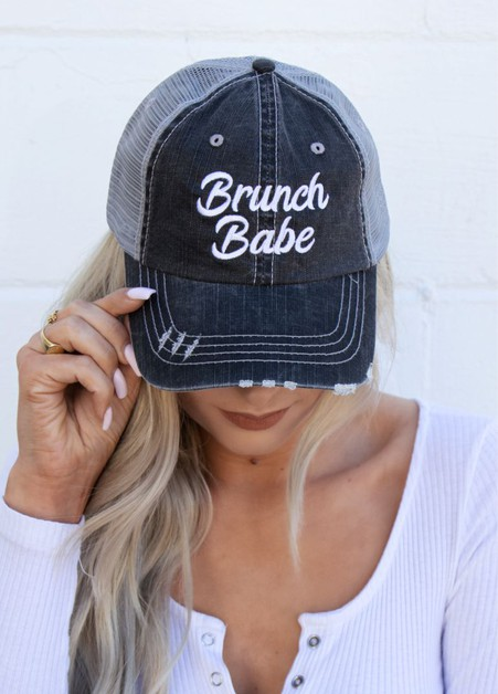 Brunch Babe Embroidered Hat - orangeshine.com