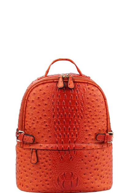 FASHION CROCO PATTERN BACKPACK - orangeshine.com