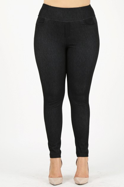 High Rise Banded Waist leggings  - orangeshine.com