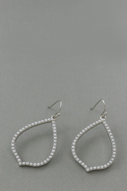 METAL BEAD  DANGLE EARRING  - orangeshine.com