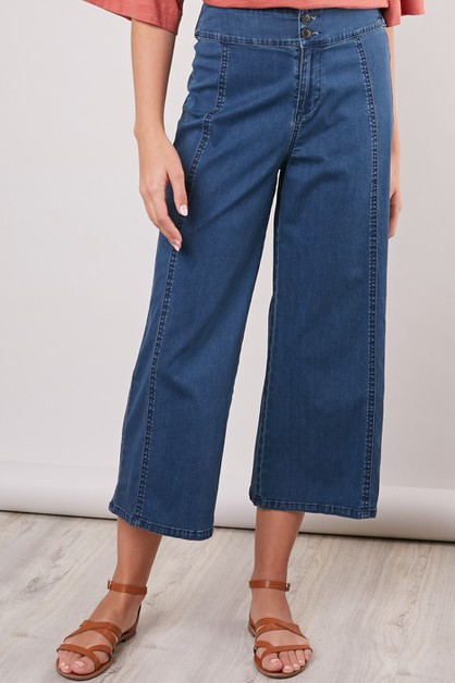 WIDE-LEG DENIM PANTS - orangeshine.com