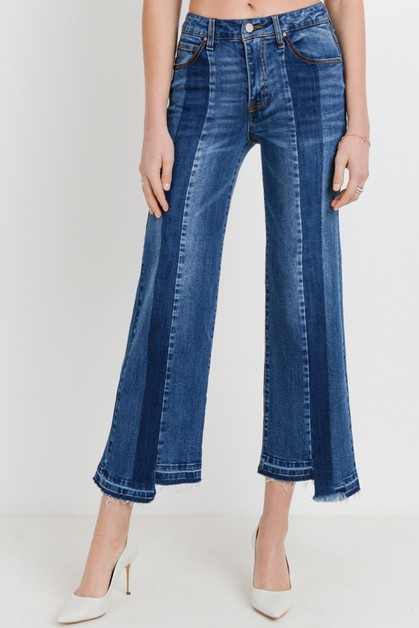 High Rise Flare Denim Jeans - orangeshine.com