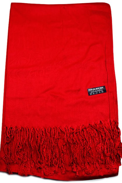 Plain Color Pashmina Scarf - orangeshine.com