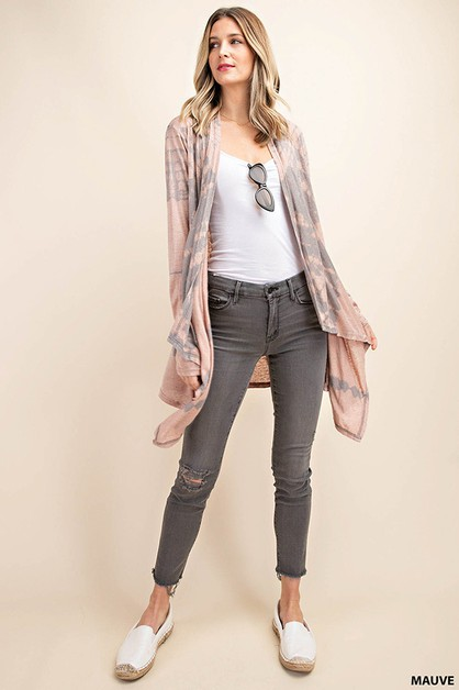 TIE DYE WASHED CARDIGAN - orangeshine.com
