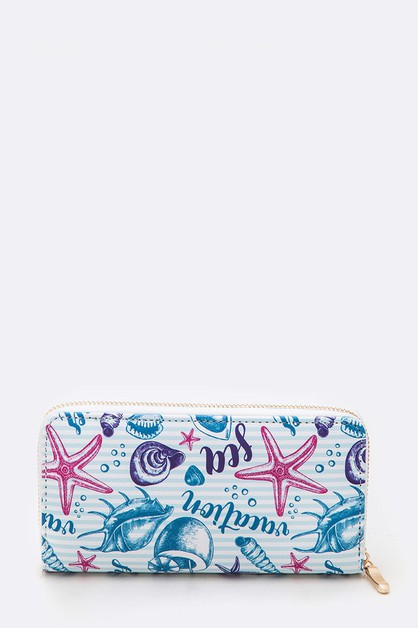 Sea Life Iconic Fashion Print Wallet - orangeshine.com