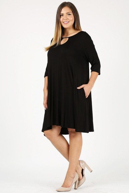 Plus Size A-line Loose Fit Dresses - orangeshine.com