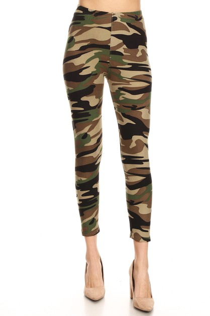 CAMOUFLAGE HIGH WAIST LEGGINGS - orangeshine.com
