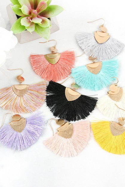 TASSEL HOOK EARRINGS - orangeshine.com