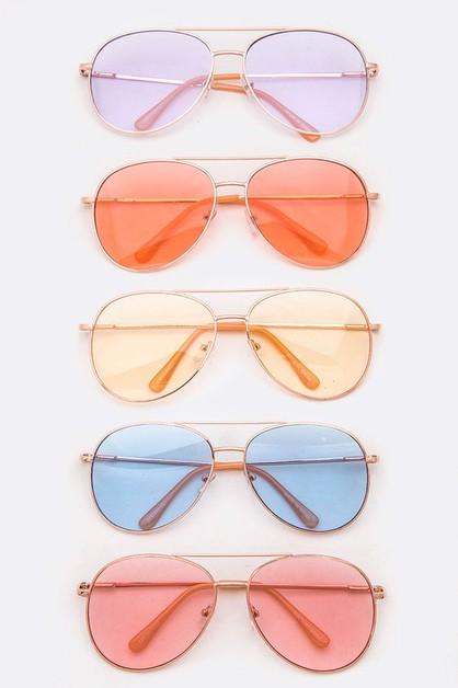 Light Color Tint Aviator Sunglasses  - orangeshine.com