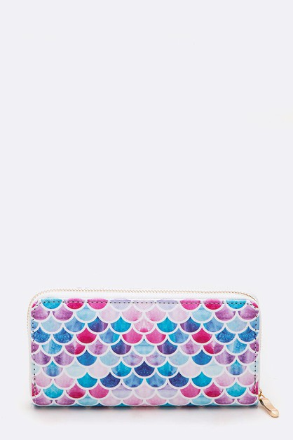 Mix Color Scale Print Fashion Wallet - orangeshine.com