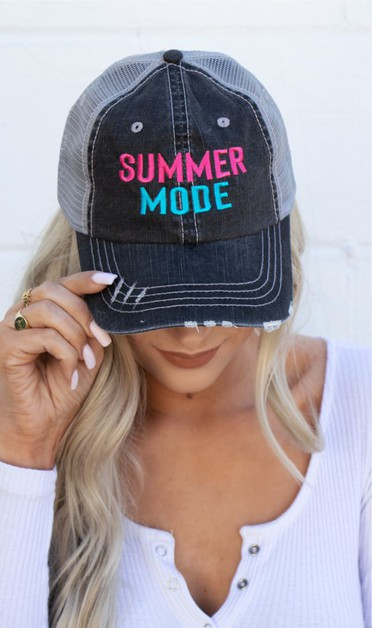 Summer Mode Embroidered Hat - orangeshine.com