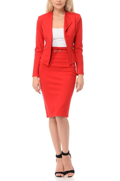 Womens plus size Work Skirt Suit Set - orangeshine.com