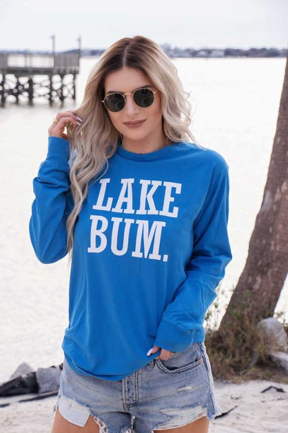 Lake Bum Pigment Dyed Long Sleeve - orangeshine.com
