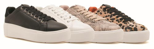 SNAKE Womens lace up sneakers - orangeshine.com