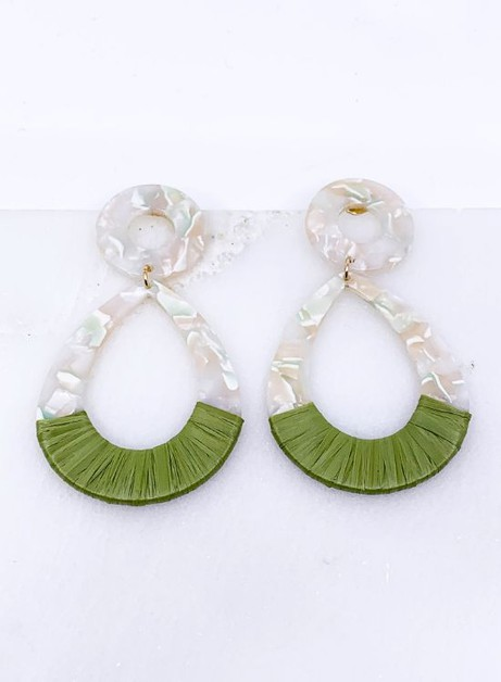 Raffia Statement Earrings  - orangeshine.com